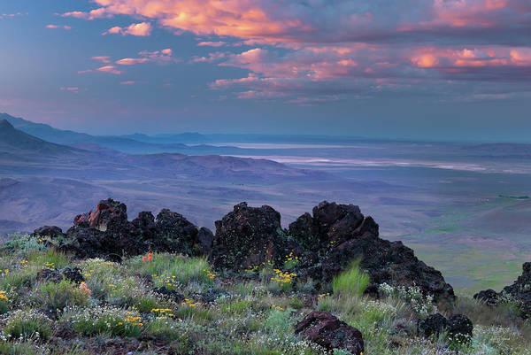 Basalt Photograph - Pueblo Mountains by Leland D Howard