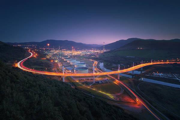 Photograph - Puente De La Arena Y Petronor En Muskiz by Mikel Martinez de Osaba