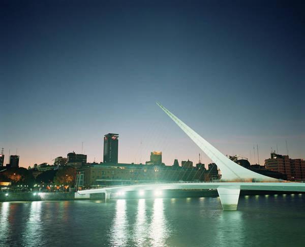 Wall Art - Photograph - Puente De La Mujer Bridge At Night by Joao Canziani