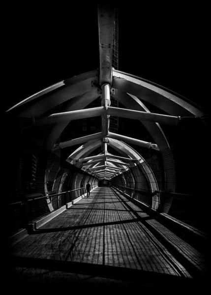Photograph - Puente De Luz Pedestrian Bridge Toronto Canada No 1 by Brian Carson