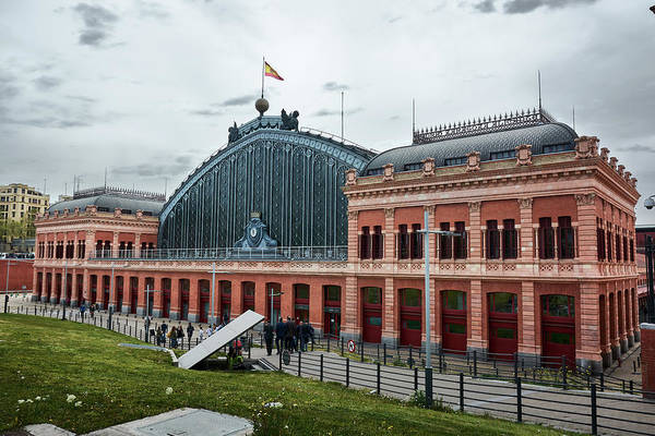 Photograph - Puerta De Atocha Railway Station by Fine Art Photography Prints By Eduardo Accorinti
