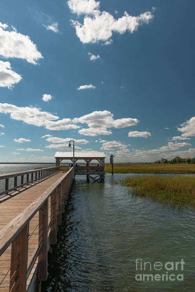 Photograph - Puffy White Clouds - Shem Creek by Dale Powell