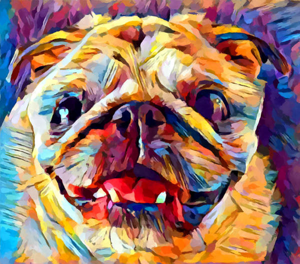 Wall Art - Painting - Pug 4 by Chris Butler