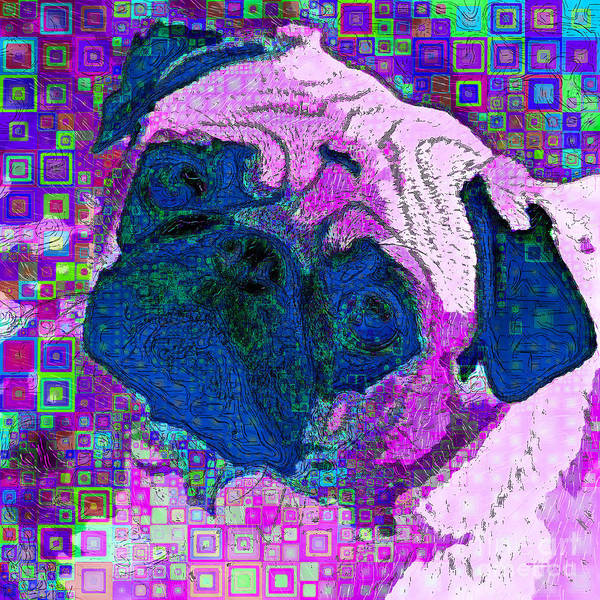 Wall Art - Photograph - Pug Dog Modern Art 20190205sq M110 by Wingsdomain Art and Photography