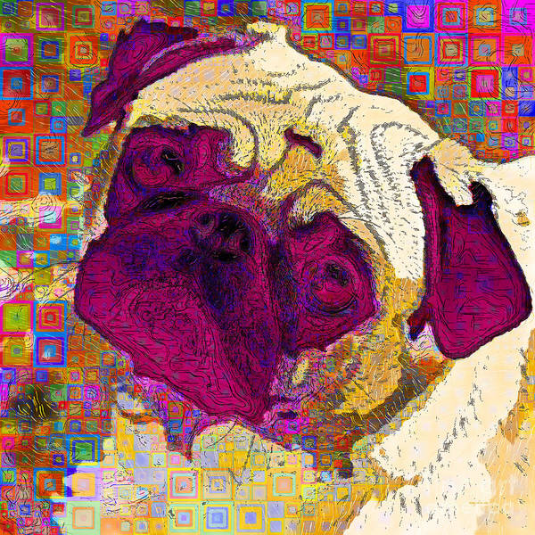Photograph - Pug Dog Modern Art 20190205sq by Wingsdomain Art and Photography