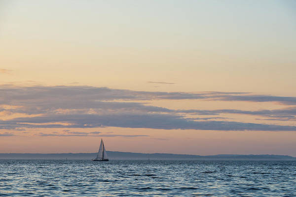 Digital Art - Puget Sound From Alki Beach, Seattle by Michael Lee