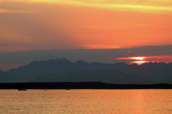 Photograph - Puget Sound Sunset - Seattle Washington by Rick Veldman
