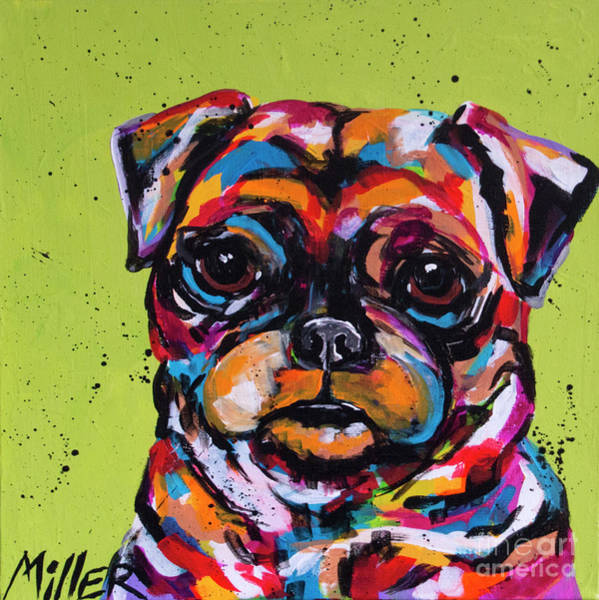 Wall Art - Painting - Puggy by Tracy Miller