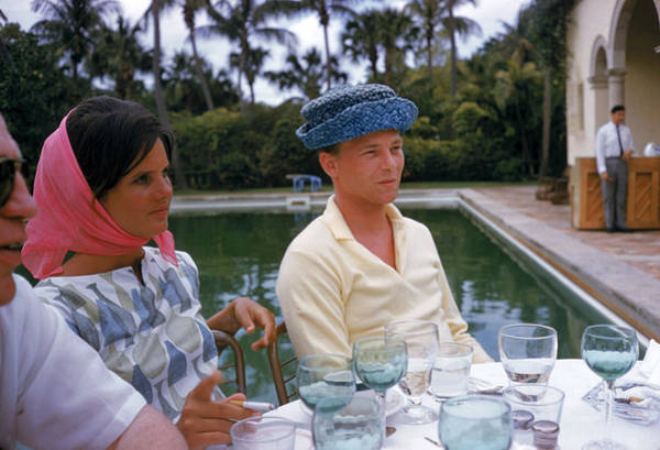 Hat Photograph - Pulitzer At Party by Slim Aarons