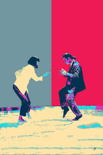 Digital Art - Pulp Fiction Revisited - Vincent Vega And Mia - The Dance by Serge Averbukh