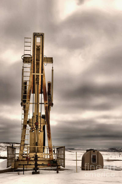 Wall Art - Photograph -  Pumping Oil On A Gray Day by Jeff Swan