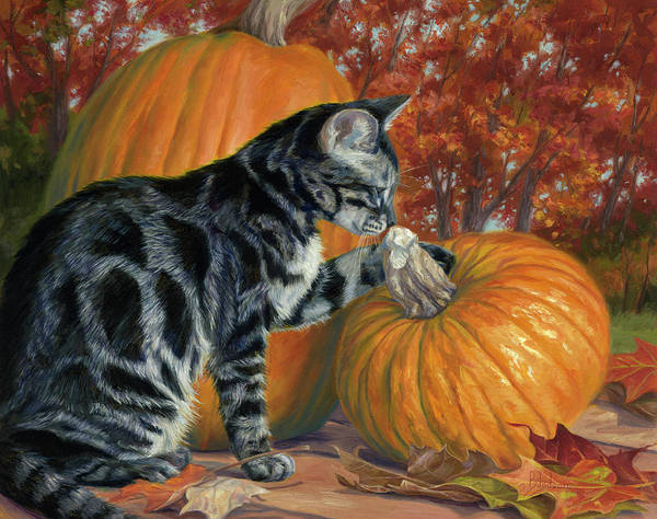 Painting - Pumpkin Season by Lucie Bilodeau