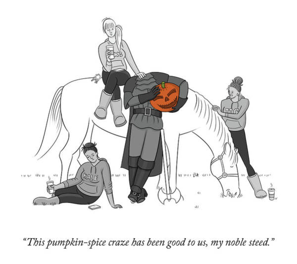 Drawing - Pumpkin Spice Craze by Lila Ash