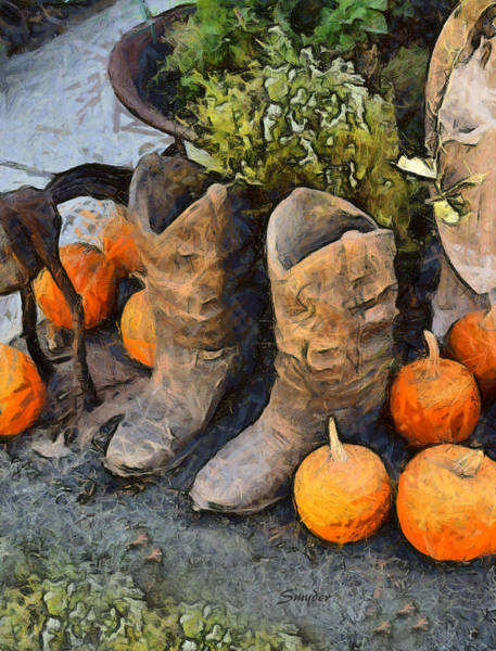 Photograph - Pumpkins And Boots 2 by Floyd Snyder