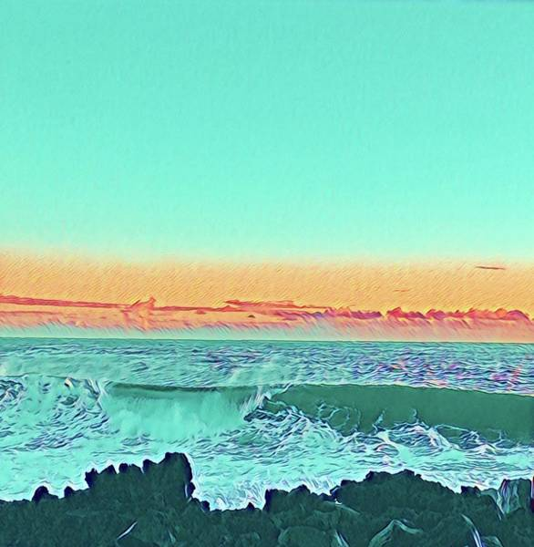 Photograph - Puna Waves In Turquoise  by Joalene Young