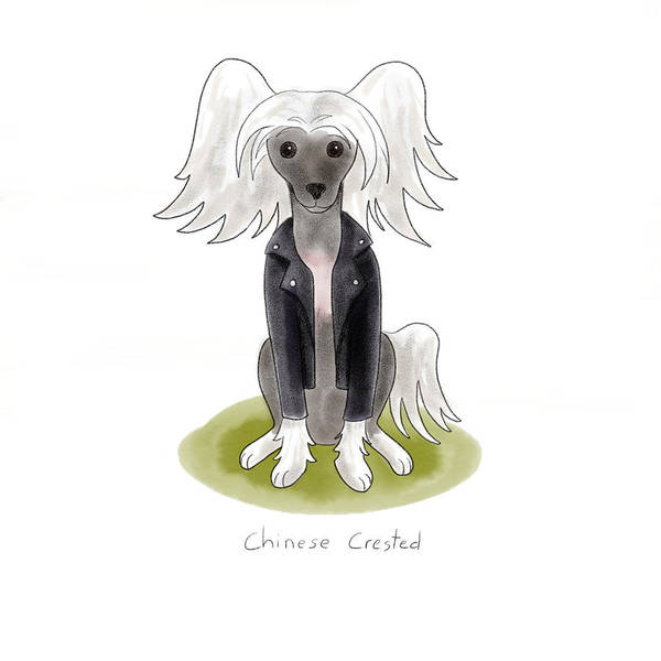 Chinese Girl Wall Art - Painting - Punk Rock Chinese Crested by Christy Beckwith