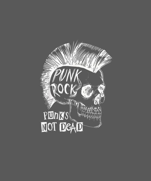 Wall Art - Digital Art - Punk Rock - Rock N Roll T-shirt T-shirt by Unique Tees
