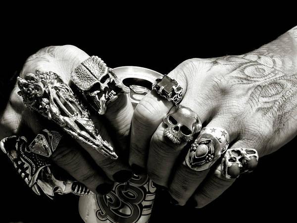 Photograph - Punk Rocker Hands by Jeffrey PERKINS