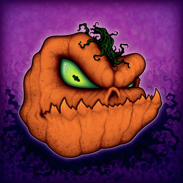 Pumpkin Digital Art - Punkin Head by John Schwegel