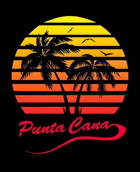 Wall Art - Digital Art - Punta Cana Sunset by Filip Hellman