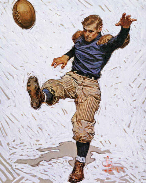 Wall Art - Painting - Punter - Digital Remastered Edition by Joseph Christian Leyendecker