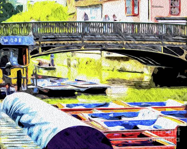 Photograph - Punting On The River Cam In Cambridge by Nigel Dudson