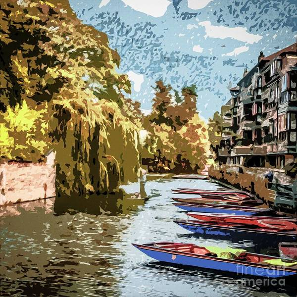 Photograph - Punting On The River Cam by Nigel Dudson