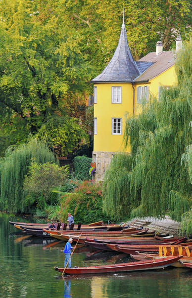 Baden Wuerttemberg Photograph - Punts In Lovely Tuebingen Germany by Matthias Hauser