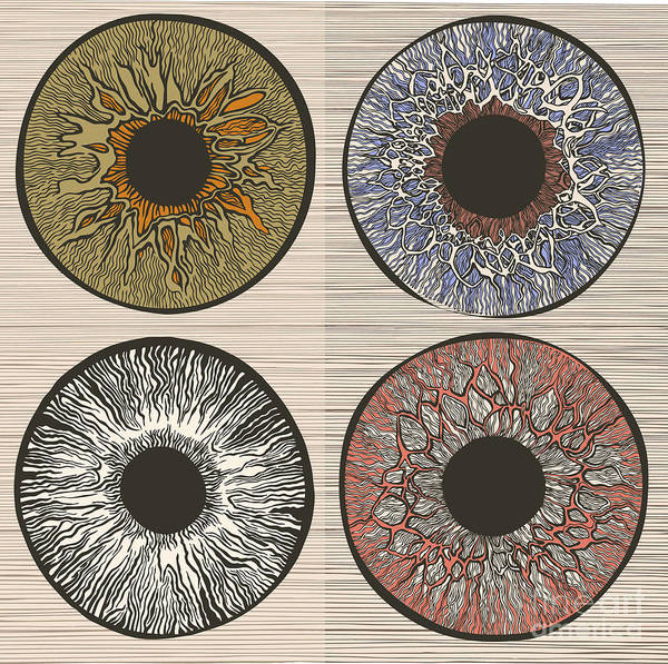 Wall Art - Digital Art - Pupil Variations. Macro Human Eye by Ryger