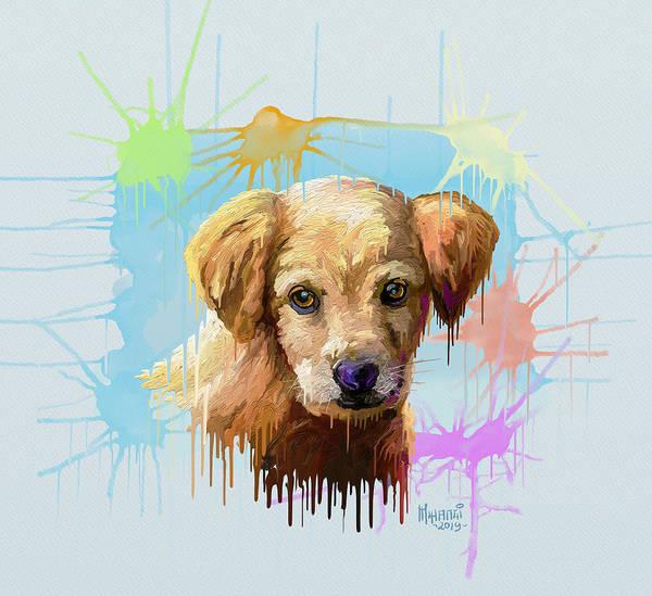 Uganda Painting - Puppy by Anthony Mwangi