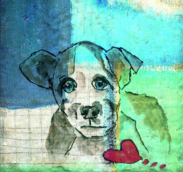 Wall Art - Digital Art - Puppy With Heart by Susan Stone