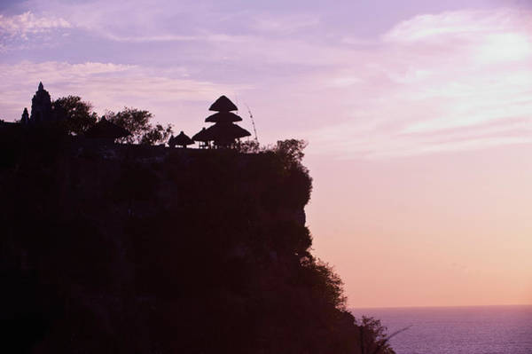Indonesian Culture Photograph - Pura Lunhur Ulu Watu Temple On Cliffs by Gallo Images