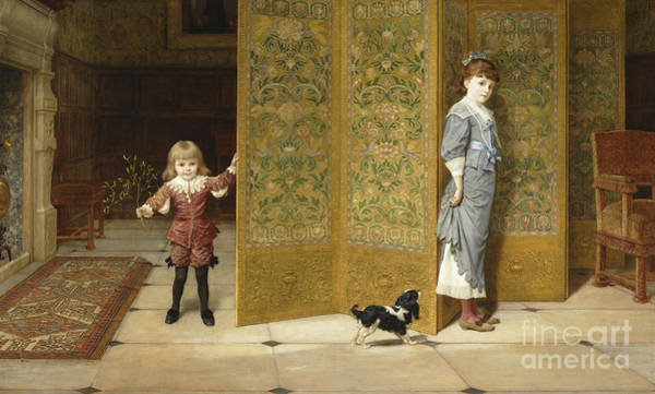 Brother And Sister Wall Art - Painting - Puritan And Cavalier, 1886  by Frederick Goodhall
