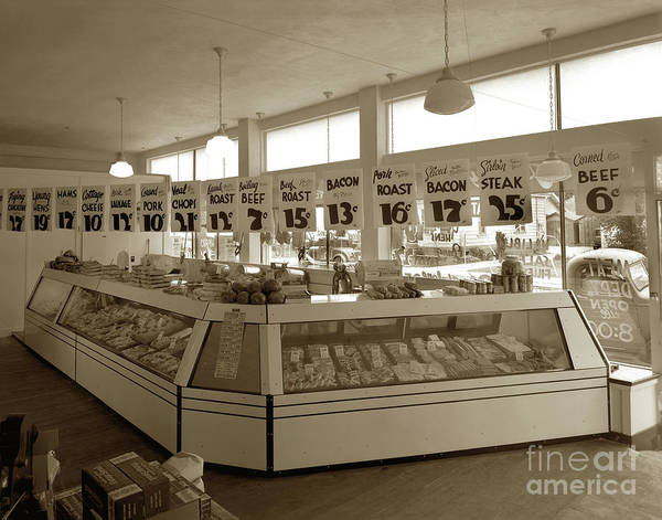Photograph - Purity Market In Downtown Monterey.  Circa 1948 by California Views Archives Mr Pat Hathaway Archives