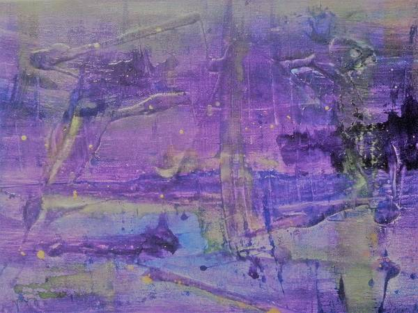 Painting - Purple Abstract by Jan Pellizzer