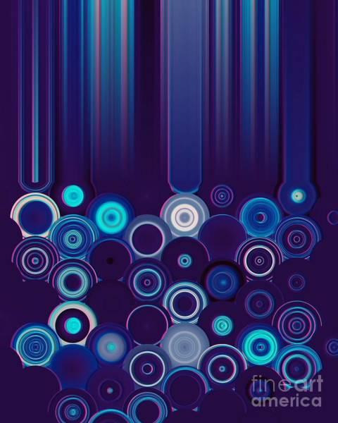 Digital Art - Purple And Blue Geometric Design by Rachel Hannah