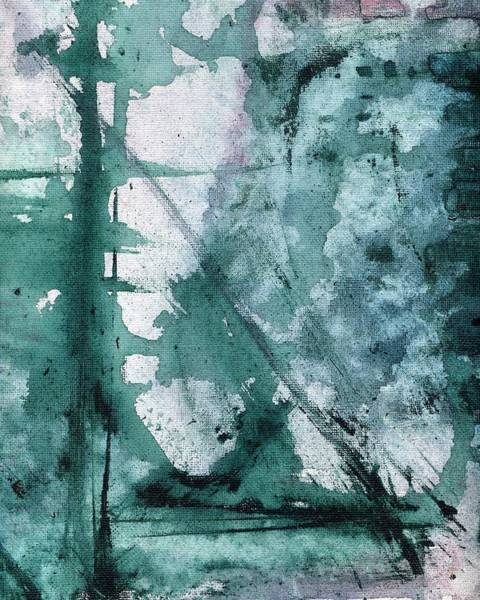 Painting - Purple And Green Abstract Painting 1 by Itsonlythemoon