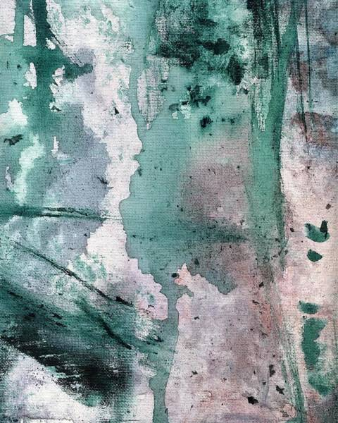 Painting - Purple And Green Abstract Painting 3 by Itsonlythemoon