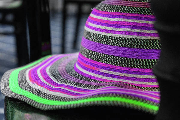 Photograph - Purple And Green Hat by Sharon Popek