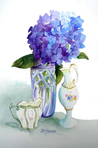 Wall Art - Painting - Purple And Porcelain by Pat Yager