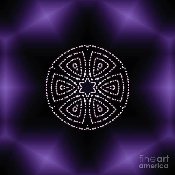 Digital Art - Purple Aura  by Rachel Hannah