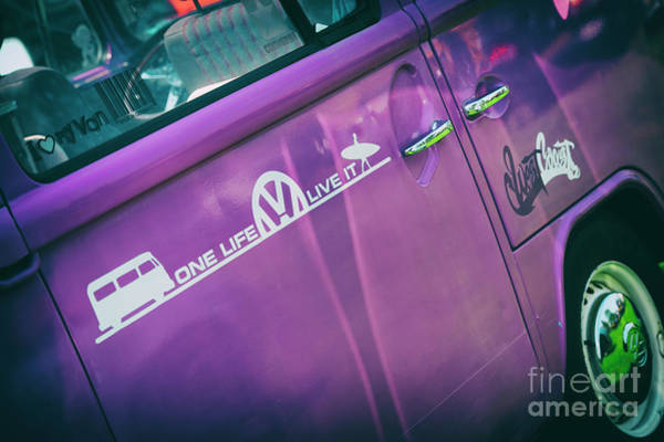 Wall Art - Photograph - Purple Camper by Tim Gainey