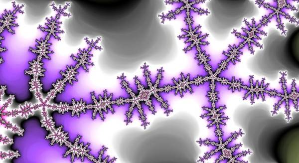 Digital Art - Purple Chain Lightning by Don Northup