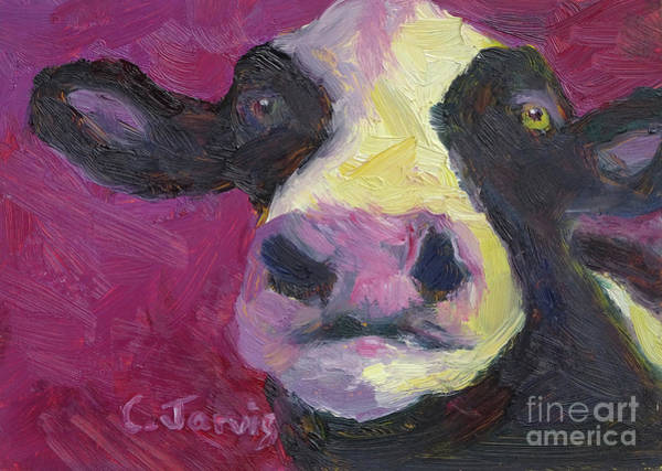 Painting - Purple Cow by Carolyn Jarvis