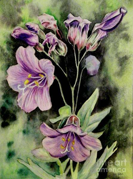 Grand Mesa Painting - Purple Delight Wildflowers by Dale E Jackson