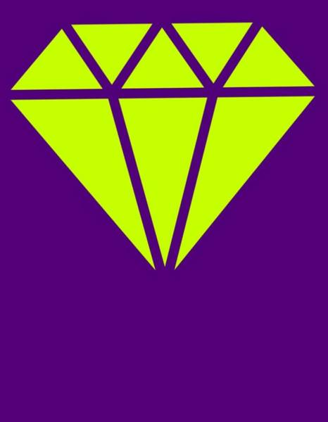 Mixed Media - Purple Diamond Yellow by Ize Barbosa DIAMOND IS FOREVER