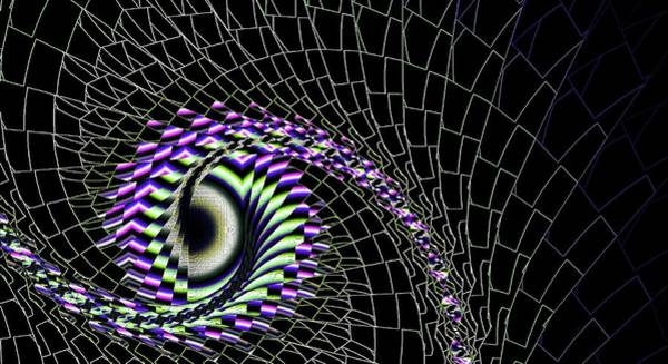 Digital Art - Purple Eye Was Here by Don Northup