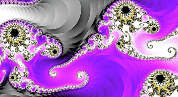 Digital Art - Purple Fantasy Ribbons by Don Northup