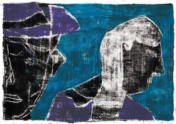 Painting - Purple Farmer by Artist Dot