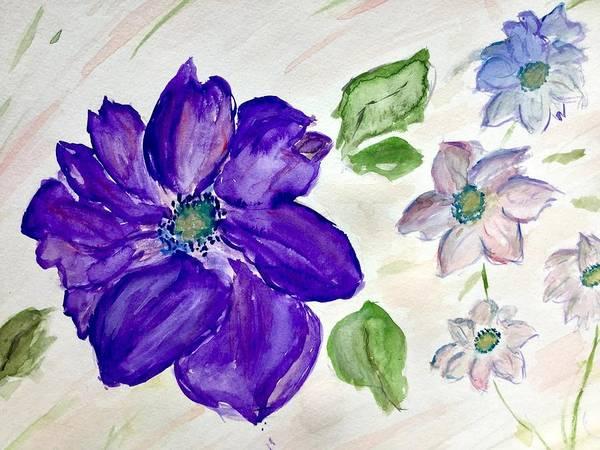 Painting - Purple Flower by Annalea